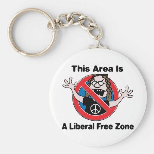 A Liberal Free Zone Key Chain