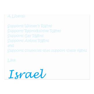 A Liberal is pro-Israel Postcard