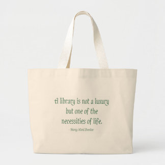 A Library Is Not A Luxury Jumbo Tote Bag