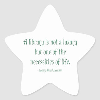 A Library Is Not A Luxury Star Sticker