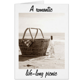 A LIFE-LONG ROMANTIC PICNIC TO MY GROOM GREETING CARD