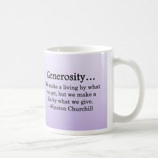 A Life of Generosity Coffee Mug