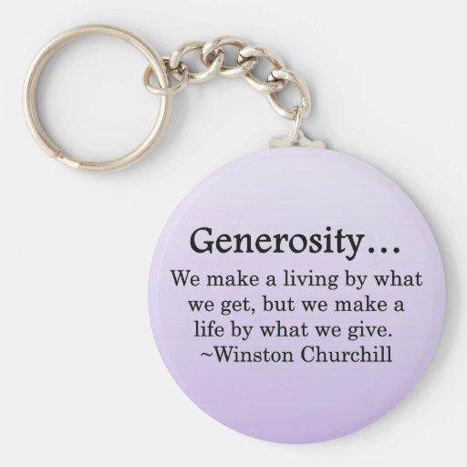 A Life of Generosity Keychains