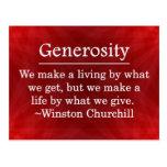 A Life of Generosity Postcard