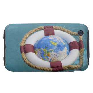 A life preserver and world globe floating iPhone 3 tough cover