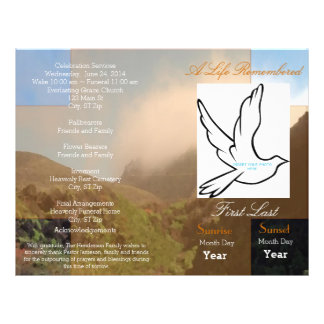 A Life Remembered Funeral Program-single fold Flyer