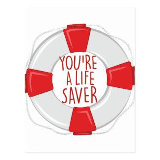 A Life Saver Postcard