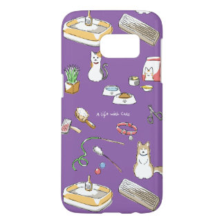A life with Cats (for hyperchromic area/for dark) Samsung Galaxy S7 Case