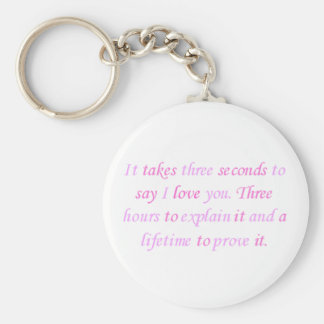 a lifetime to prove it basic round button keychain