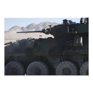 A light armored vehicle fires art photo