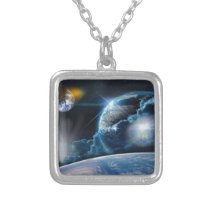 A Light Being's Journey Silver Plated Necklace
