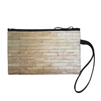 A Light Colored Brick Wall Coin Purse