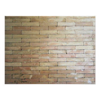 A Light Colored Brick Wall Poster