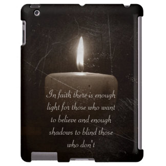 A Light in the Darkness - Candle Photo with Saying