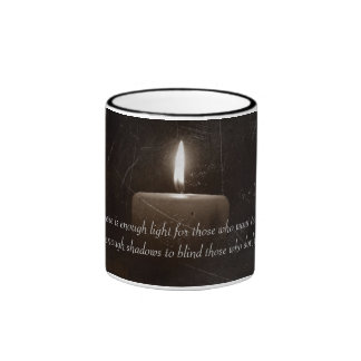 A Light in The Darkness - Candle with Faith Saying Mugs