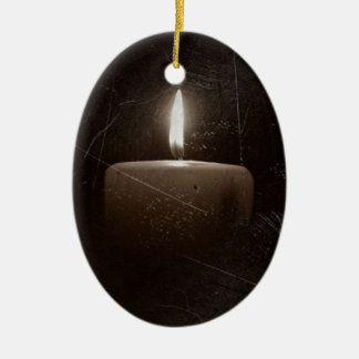 A light in the darkness - Candle with Faith Saying Ornament