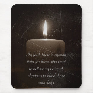A Light in the Darkness - Candle with Saying Mouse Pad
