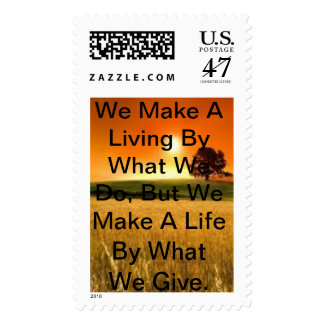 A Light Of Inspiration by Winston Churchill Postage Stamp