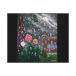 A light rain storm canvas print