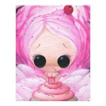 cupcake, sugar, fueled, sugarfueled, michael, banks, coallus, sprinkles, pink, rainbow, heart, icing, Papel de cartas com design gráfico personalizado