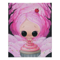 artsprojekt, sugarfueled, sugar, fueled, cupcake, pink, girl, rainbow, sprinkles, coallus, michael, banks, Poster with custom graphic design