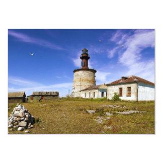 A lighthouse on the islet of Keri, Estonia 5x7 Paper Invitation Card