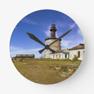 A lighthouse on the islet of Keri, Estonia Round Clock