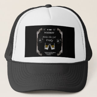 A Lil Whiskey Makes this Girl Frisky Trucker Hat