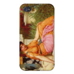 A Lily Pond - John William Godward iPhone 4 Covers