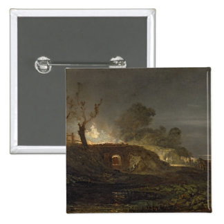 A Lime Kiln at Coalbrookdale, c.1797 (oil on panel Button