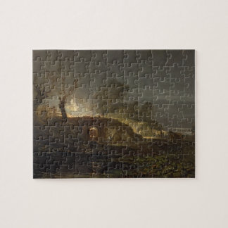 A Lime Kiln at Coalbrookdale, c.1797 (oil on panel Puzzle