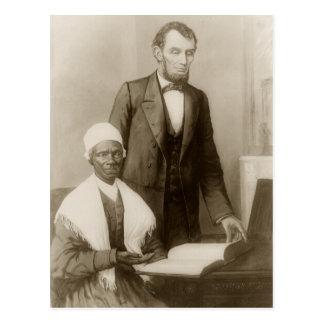 A Lincoln que muestra a verdad del Sojourner la b Tarjetas Postales