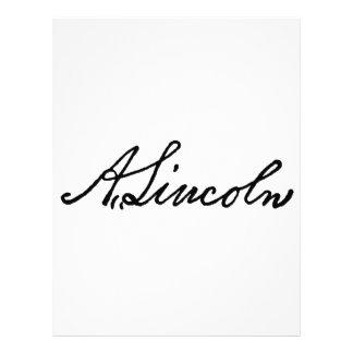 A Lincoln signature Letterhead Template