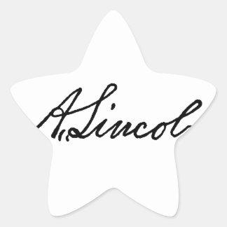 A Lincoln signature Star Sticker