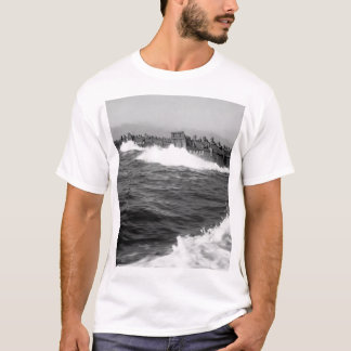A line of Coast Guard landing barges_War Image T-Shirt