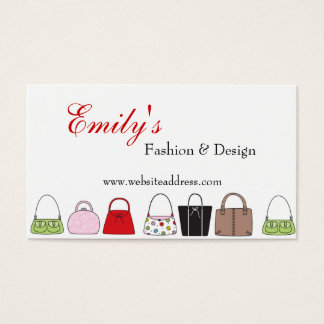 A Line of Purses Design 3 Fashion Business Cards
