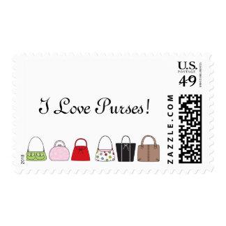 A Line of Purses - I Love Purses! Stamp