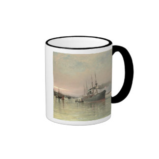 A Liner and Other Shipping before the Statue of Li Coffee Mugs
