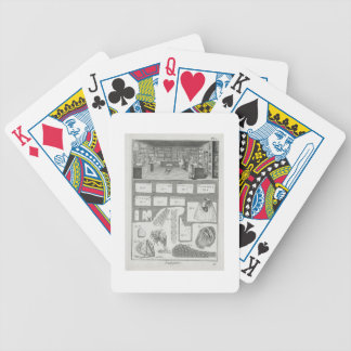 A lingerie maker's workshop and material, from the bicycle playing cards