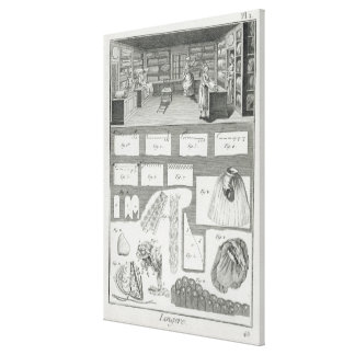 A lingerie maker's workshop and material, from the canvas print