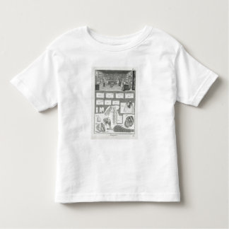A lingerie maker's workshop and material, from the toddler t-shirt