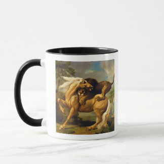 A Lion Attacking a Horse, c.1762 (oil on canvas) Mug