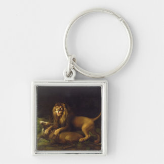 A Lion Attacking a Stag, c.1765 (oil on canvas) Keychain