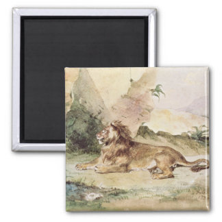 A Lion in the Desert, 1834 Magnet