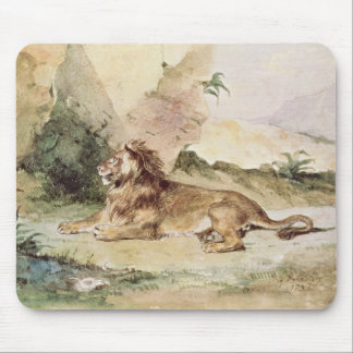 A Lion in the Desert, 1834 Mouse Pad