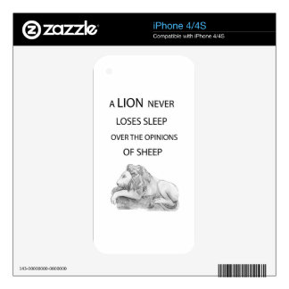 A lion  never iPhone 4 skin