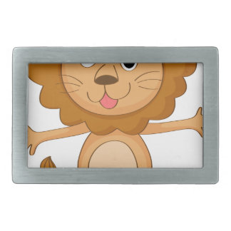 a lion rectangular belt buckles