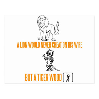 A Lion Would Never Cheat On His Wife Postcard