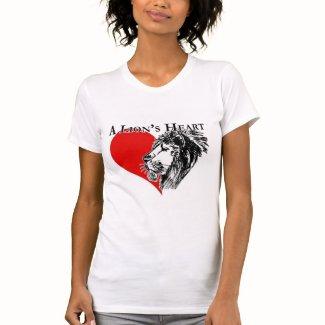 A Lion's Heart Logo Women's T-Shirt