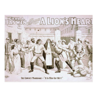 A Lion's Heart Postcard